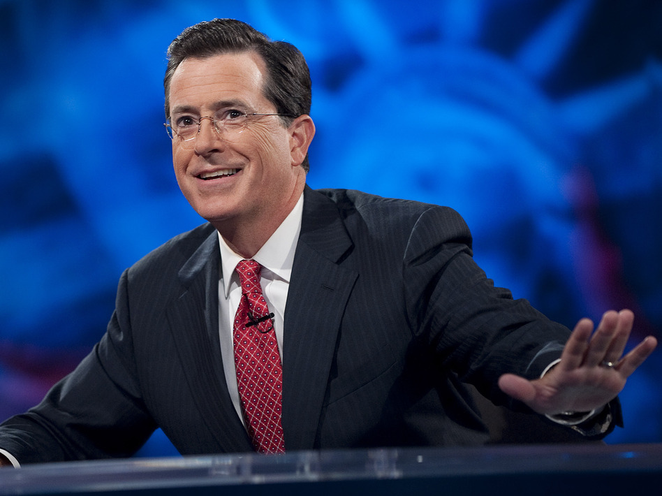 Stephen Colbert has made a name for himself, literally, as the host of his own show. Now, he will succeed David Letterman as the host of <em>The Late Show</em>. (Scott Gries/Picturegroup)