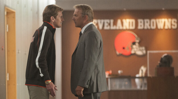 Denis Leary plays a wound-up coach and Kevin Costner plays a general manager in Draft D