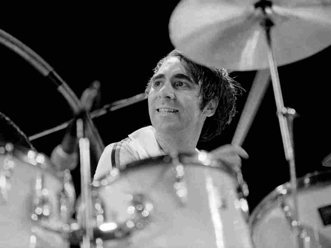 The Who's Keith Moon, performing live in 1975.