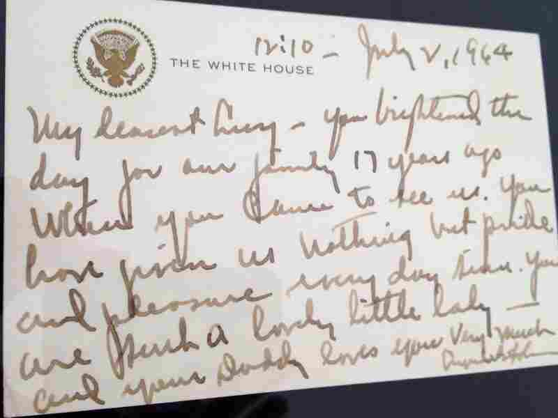 President Johnson's birthday letter to Luci Baines Johnson, dated July 2, 1964 — her 17th birthday, the same day the Civil Rights Act was signed.