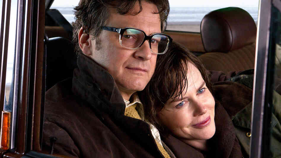 Colin Firth and Nicole Kidman as Eric and Patti Lomax, the couple at the center of The Railway Man.