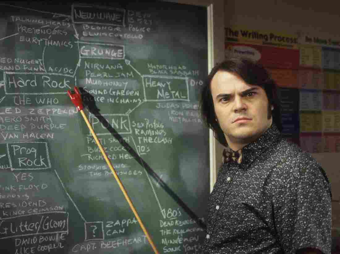 Jack Black in a scene from the 2003 film School Of Rock
