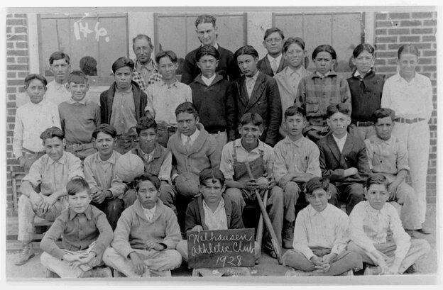 Long before he was president, Lyndon Johnson taught in Cotulla, Texas. He is pictured here with students in 1928.