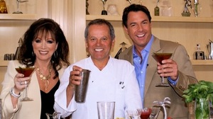 Jackie Collins, the author of nearly 30 best-sellers, wrote her cookbook with Wolfgang Puck (center) and Mark Steines.