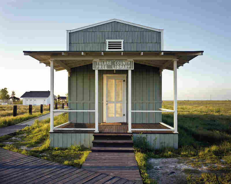 Re-creation of a library built by ex-slaves in Allensworth, Calif. (1995)