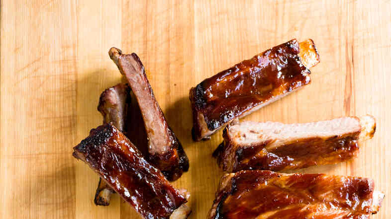 Sweet and spicy spareribs