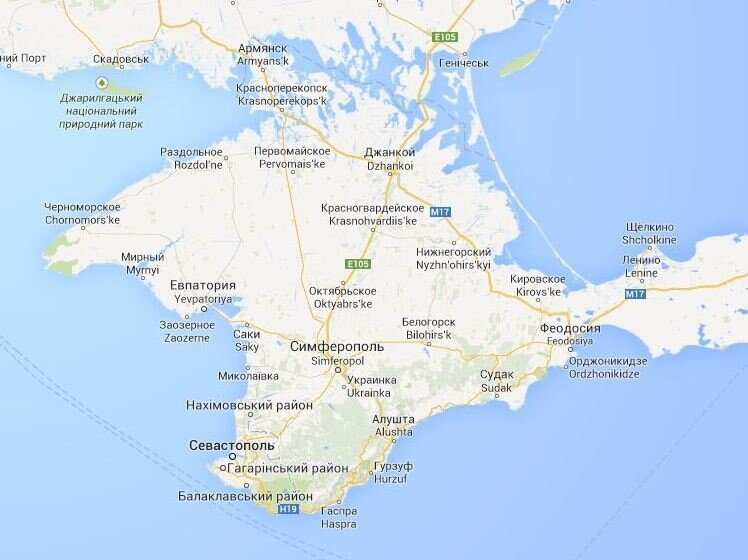 Google Maps Displays Crimean Border Differently In Russia ... on jenne africa on world map, siam on world map, anatolia on world map, el alamein on world map, kilwa on world map, cascade mountain range on world map, world war 1 british blockade map, balkan powder keg map, kola peninsula on world map, dalmatia on world map, yucatan peninsula on world map, iberian peninsula on world map, batavia on world map, canton china on world map, crimea naval ports map, sevastopol crimea map, north africa on world map, elba world map, rift valley on world map,