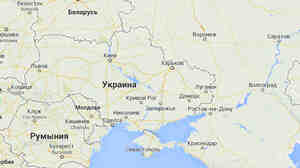 A Google Maps image from its Russian service depicts Crimea (bottom center) with a solid line, reflecting an international border between it and Ukraine. Versions of the map on other Google sites show it with a dotted line.