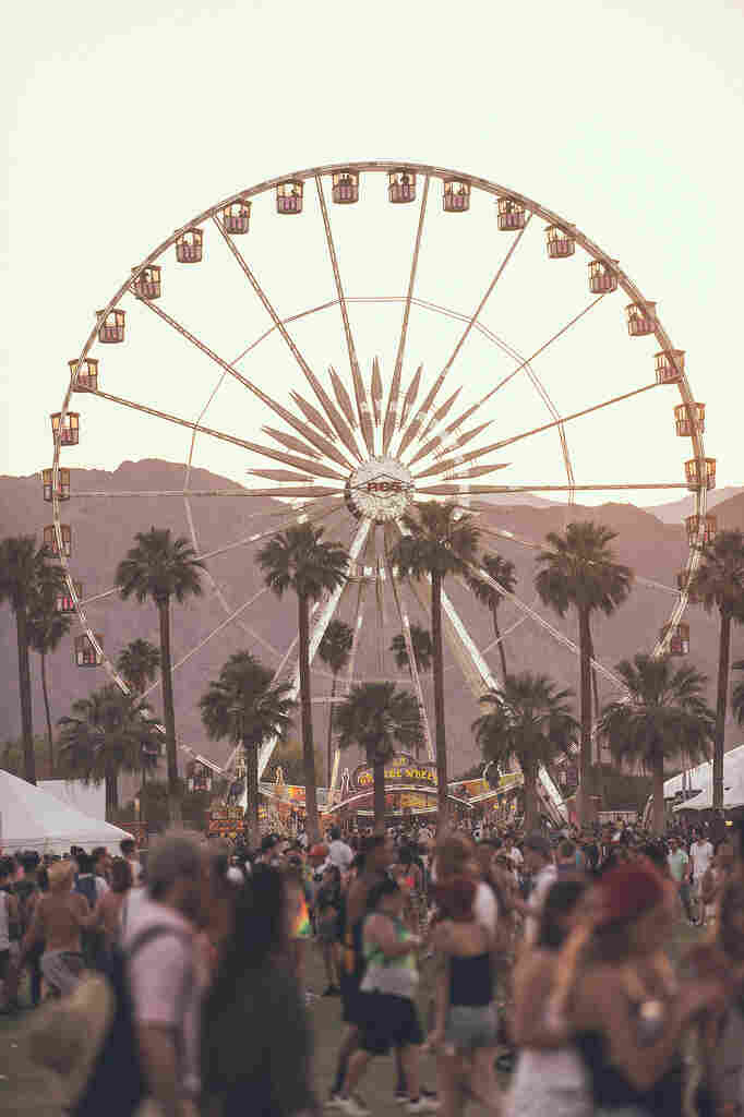 The Ferris wheel at Coachella.
