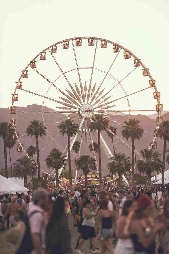 The Ferris wheel at Coachella.