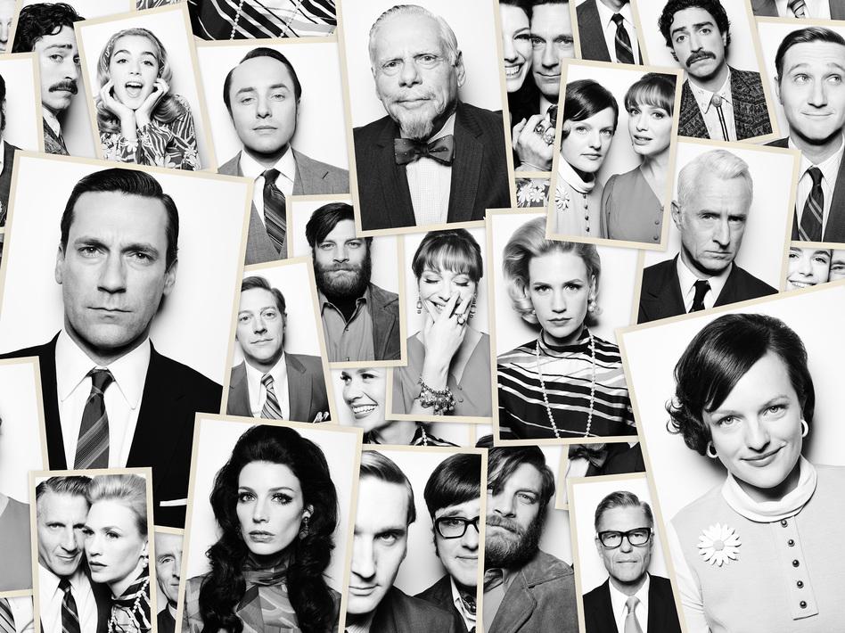 As <em>Mad Men</em> returns for its seventh season, its entire sprawling cast has plenty to do. (Frank Ockenfels/AMC)