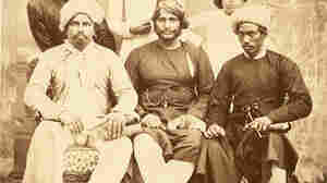This photo from 1867 shows five Muslim men and a boy wearing different styles of pajamas in Bombay.