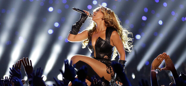 Beyonce at the 2013 Superbowl.