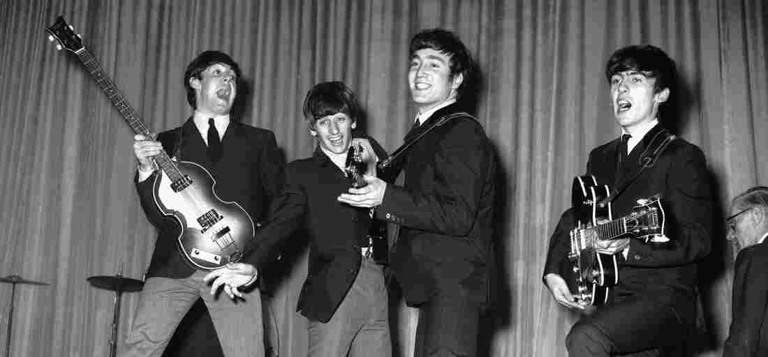 The Beatles at the Prince of Wales Theatre, 1963.