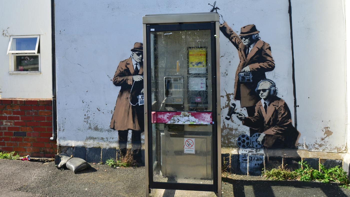 banksy npr banksy is believed to be behind eavesdropping mural near british spy hq