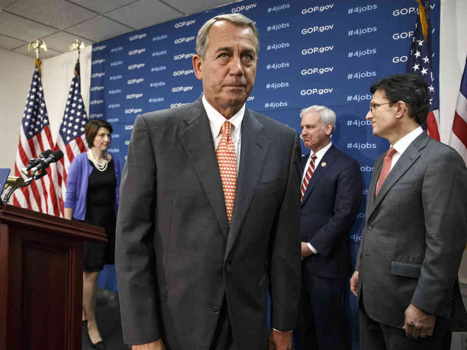 House Speaker John Boehner of Ohio, with (from