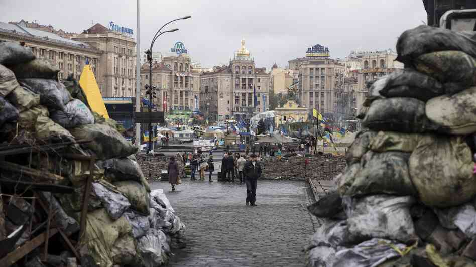 "Many Jews protested in Kiev's Independence Square and see a thread connecting ancient Egypt to modern-day Ukraine. ""We started our liberation 3,000 years ago, and we still are in the process,"" says Rabbi Alexander Duchovny."