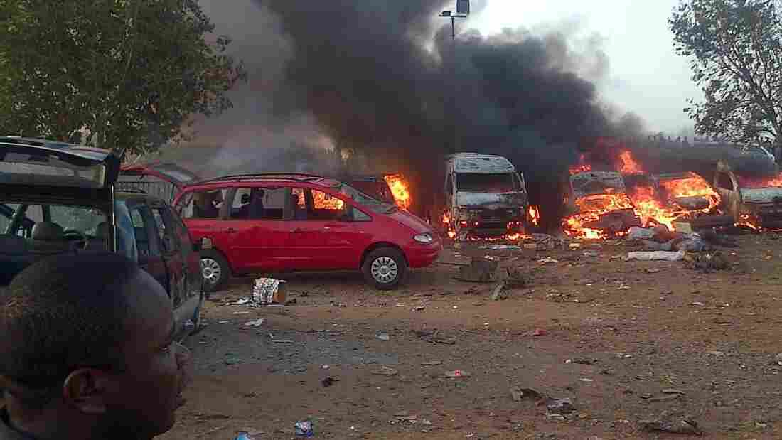A bomb blast and explosions that followed killed more than 70 people and injured more than 120 on Monday near Nigeria's capital, Abuja. Early speculation is that the attack was the work of the Boko Haram extremist group.