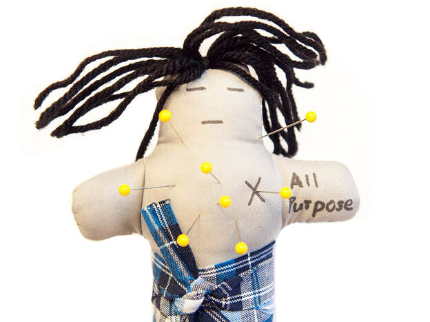 Volunteers with lower levels of blood sugar stuck more pins in voodoo dolls of their spouses than p