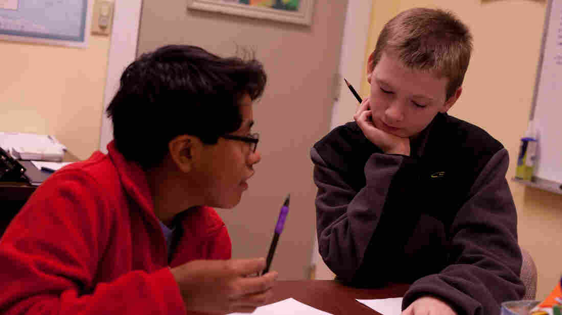 Cooper and Ned are two of the boys working on learning the Gettysburg Address in Ken Burns' latest documentary.