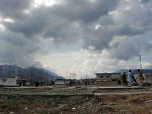 Children play at the demolished compound of Osama bin Laden in Abbottabad, Pakistan.
