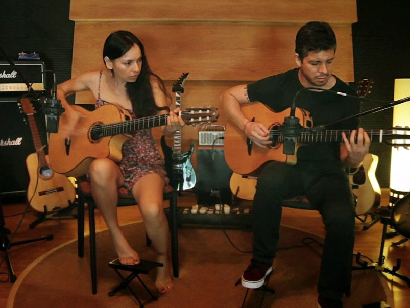 Rod y Gab on national radio in t