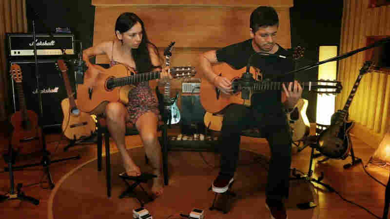 """Rodrigo y Gabriela in a scene from their new video for the song """"The Russian Messenger."""""""