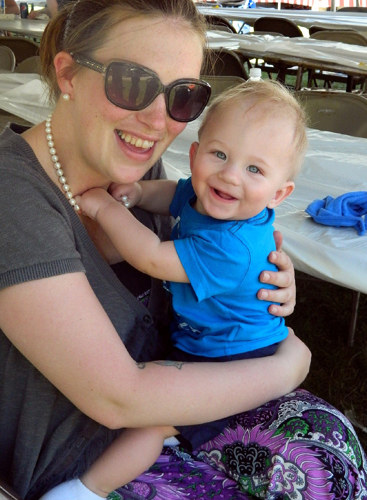 Sayra Small, with her son, Holden. Small is now in recovery after an addiction to benzodiazepines and opioid painkillers.