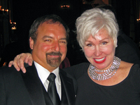 Rhonda Sanderson and her ex-husband, John Amato III, shown here in 2010, helped make a business thrive after they divorced.