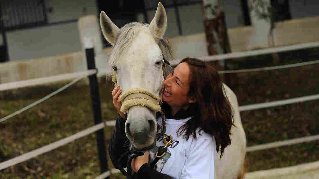 Virginia Solera Garcia helps runs the CYD Santa Maria shelter with her sister, Concordia Márquez, adopting horses that might otherwise end up in the food supply.