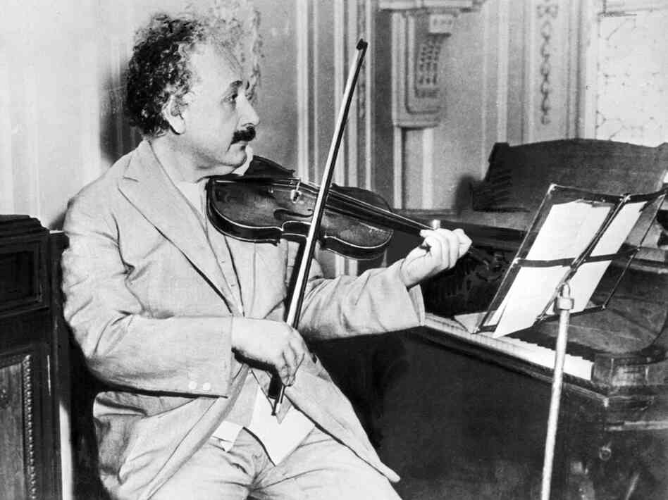 Physicist Albert Einstein found great joy in his hobby — playing the violin.