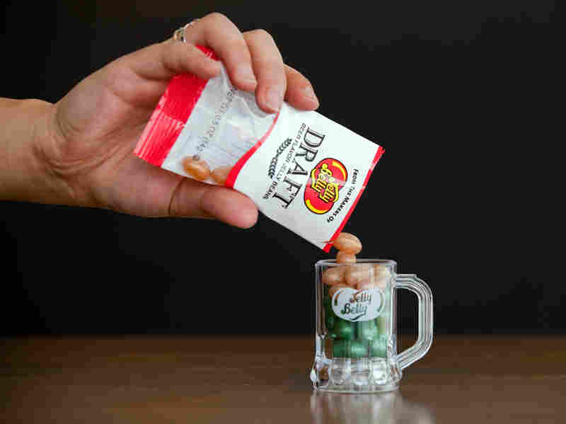 One new flavor from Jelly Belly is called Draft Beer. But there's no tipple here: These beans are nonalcoholic.