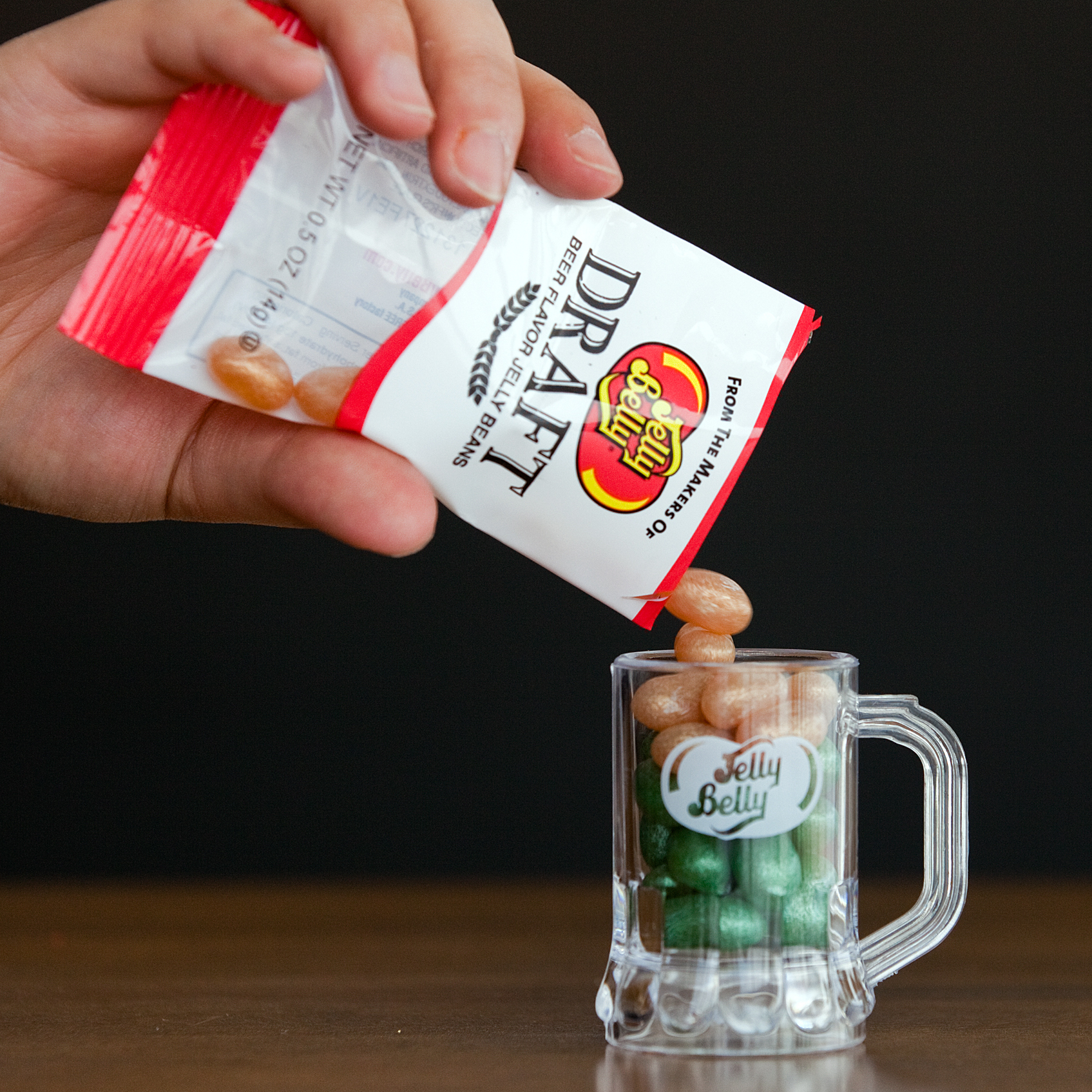 One new flavor from Jelly Belly is called Draft Beer. But there's no tipple here: These beans are non-alcoholic.