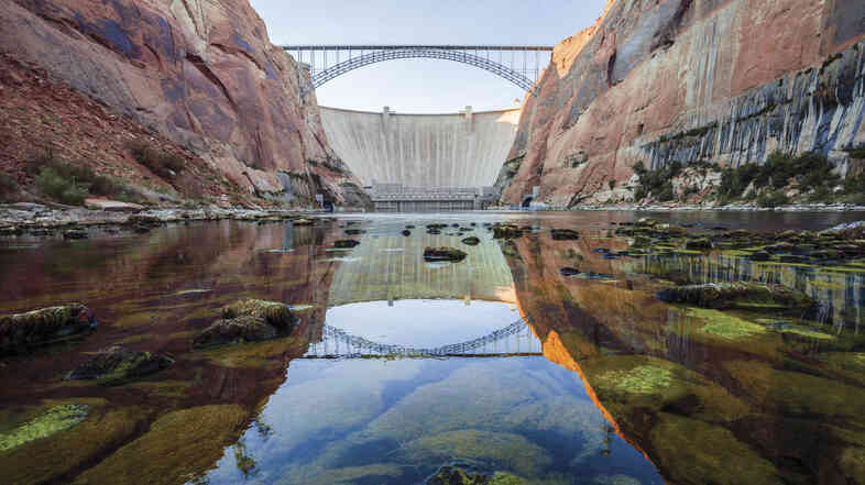 Glen Canyon Dam, on the Arizona/Utah border, is seen in a scene from DamNation.