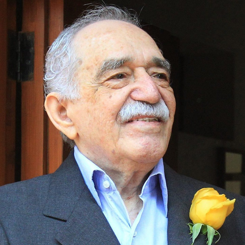 Colombian writer and Nobel laureate Gabriel Garcia Marquez greets fans and reporters outside his home in Mexico City on March 6.