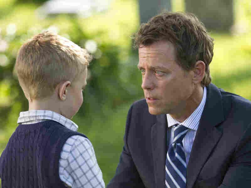 Colton Burpo (Connor Corum) tells Todd (Greg Kinnear) about heaven in Heaven Is for Real.