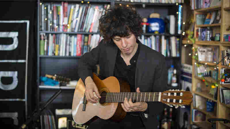 Federico Aubele performs at a Tiny Desk Concert in February 2014.