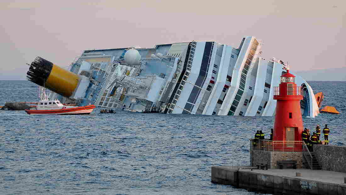 The Costa Concordia ran aground off the Italian coast in 2012, killing 32 people. Its captain was accused of manslaughter and abandoning the 4,200 passengers and crew on the night of the wreck.