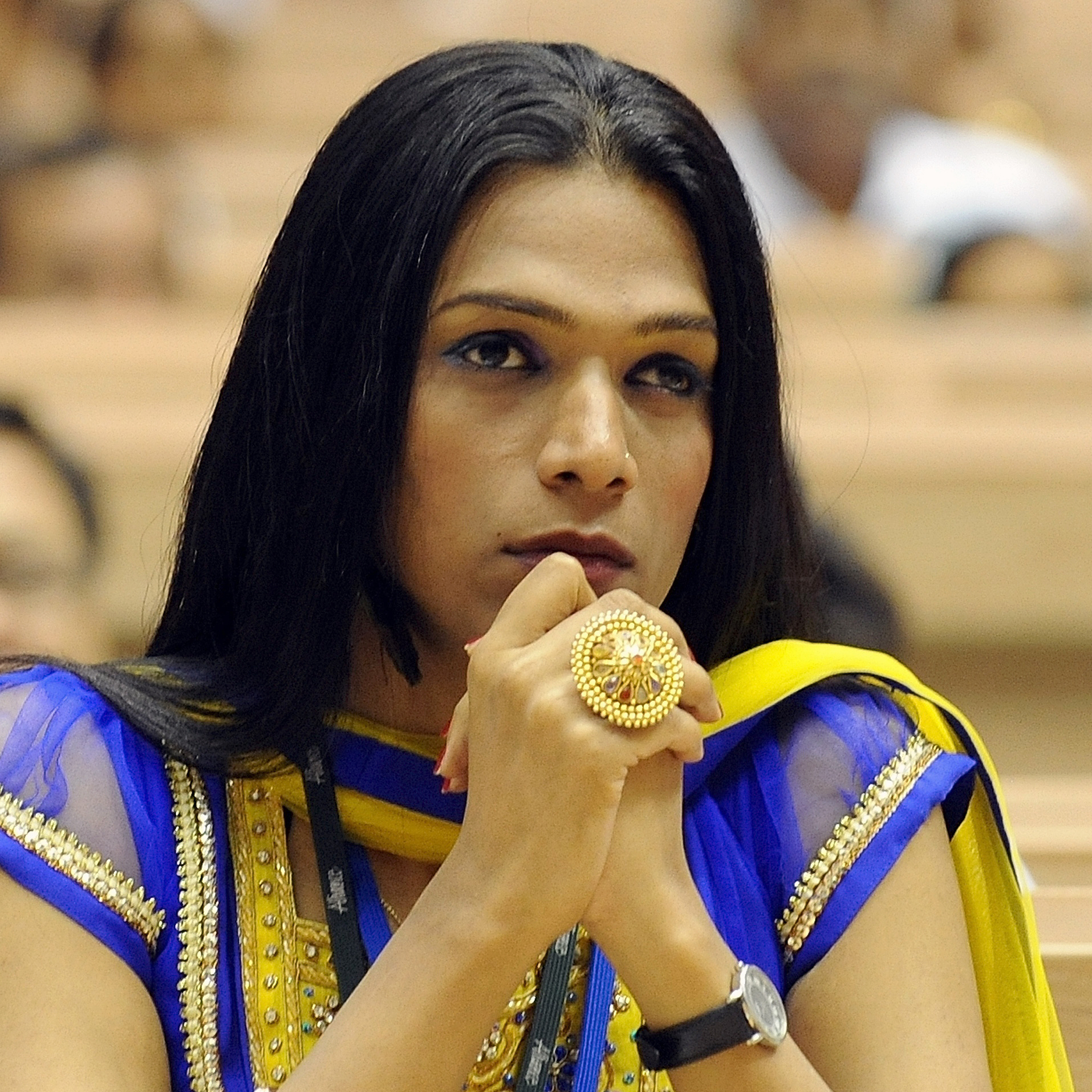 Aher attends a national conference on HIV-AIDS in New Delhi on July 4, 2011. Unlike many other hijras, she holds a conventional job as a project manager with an HIV-AIDS group.