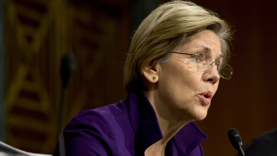 Sen. Elizabeth Warren, D-Mass., at a hearing of the Senate Banking, Housing and Urban Affairs Committee last year. Her book, A Fighting Chance, comes out next week. (AP)