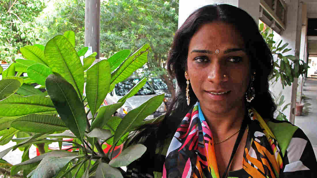 """Abhina Aher was born a boy biologically and is now a hijra, a member of an ancient transgender community in India. Of her painful physical and psychological transformation, Aher remembers now: """"I just wanted to become a beautiful butterfly."""""""