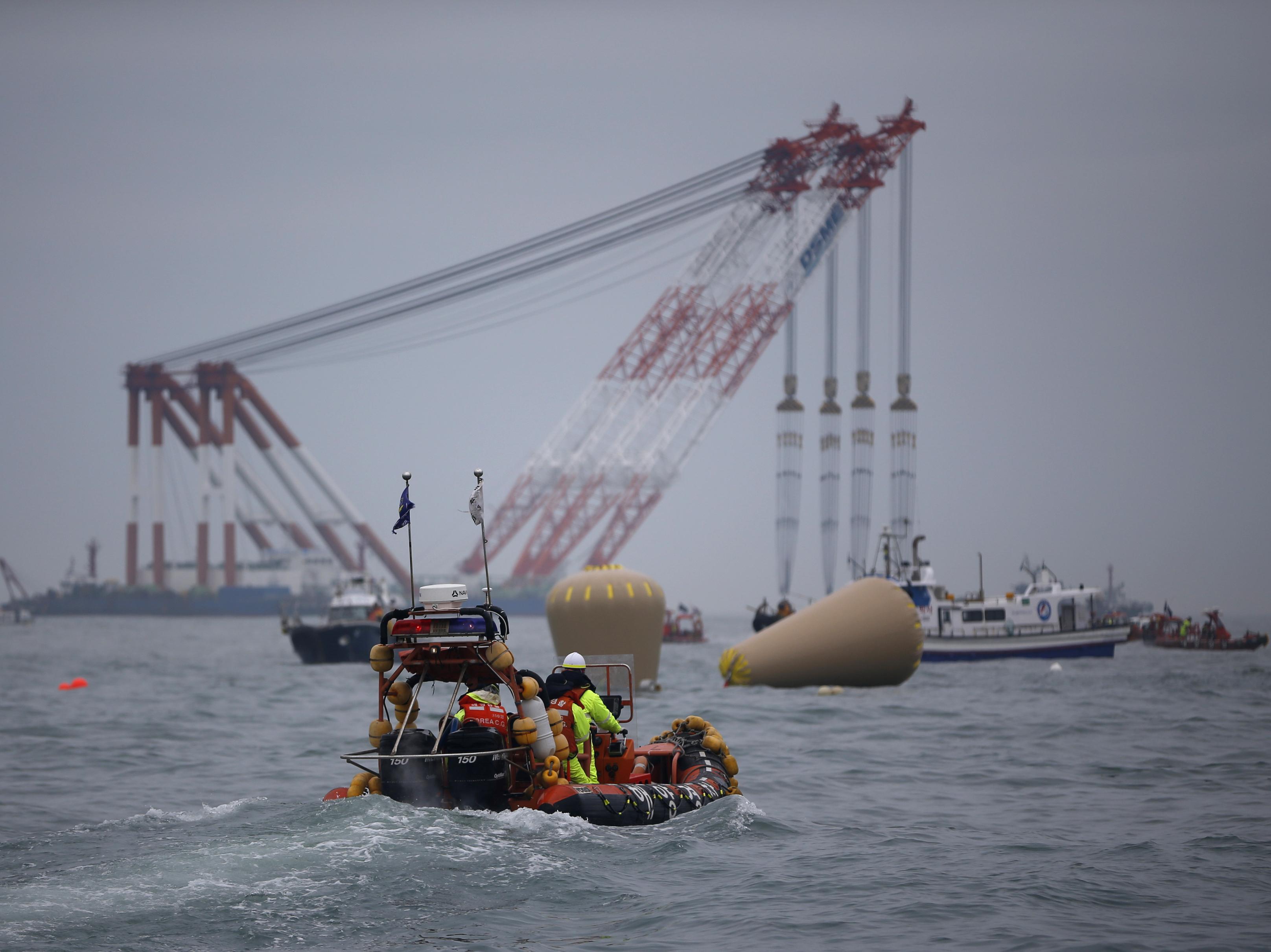Captain Of Korean Ferry Arrested As Vessel Sinks Below Surface