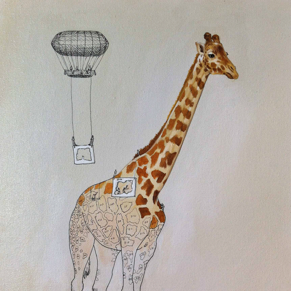Making a giraffe is as easy as paint-by-number.