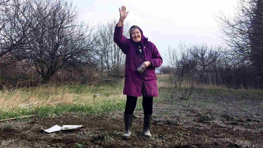 "In the rundown Ukrainian town of Perevalsk, near the Russian border, 80-year-old Lida Vasilivna has just planted a garden. ""Business just went belly up,"" she says about her town's hard times — after asking, ""Are you gonna put this granny on TV?"""