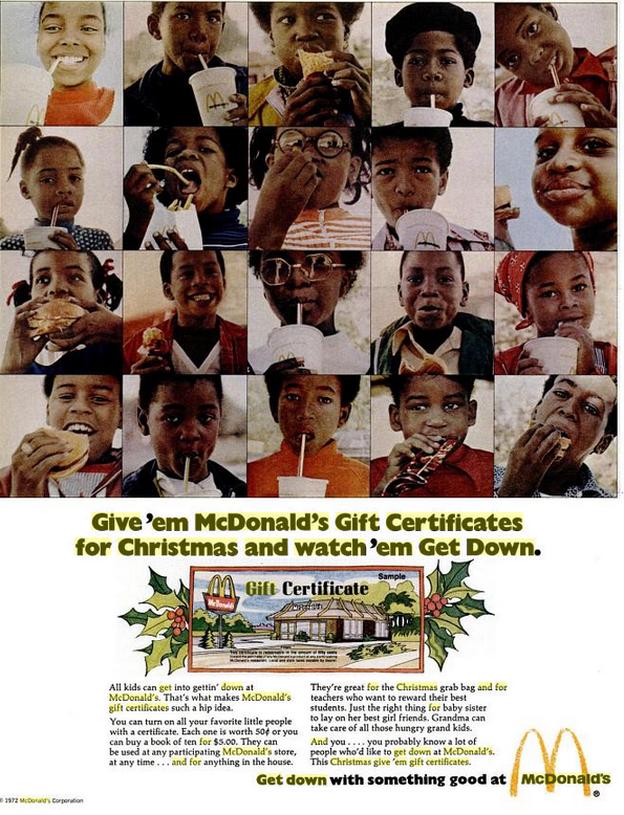McDonald's ad, 1972.