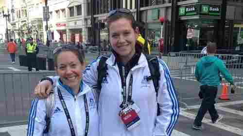 Amelia Nelson (right) and her friend Kristy were volunteers at the 2013 Boston Marathon when the bombings happened.