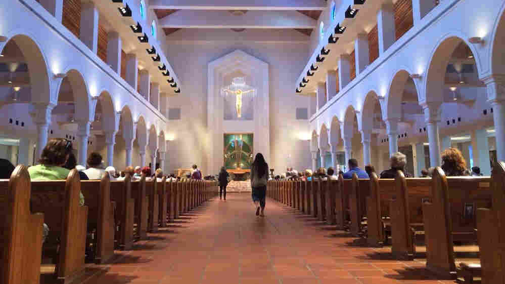In Orlando, Fla., the Basilica of the National Shrine of Mary, Queen of the Universe hosts about 35,000 Catholics on Easter Sunday.