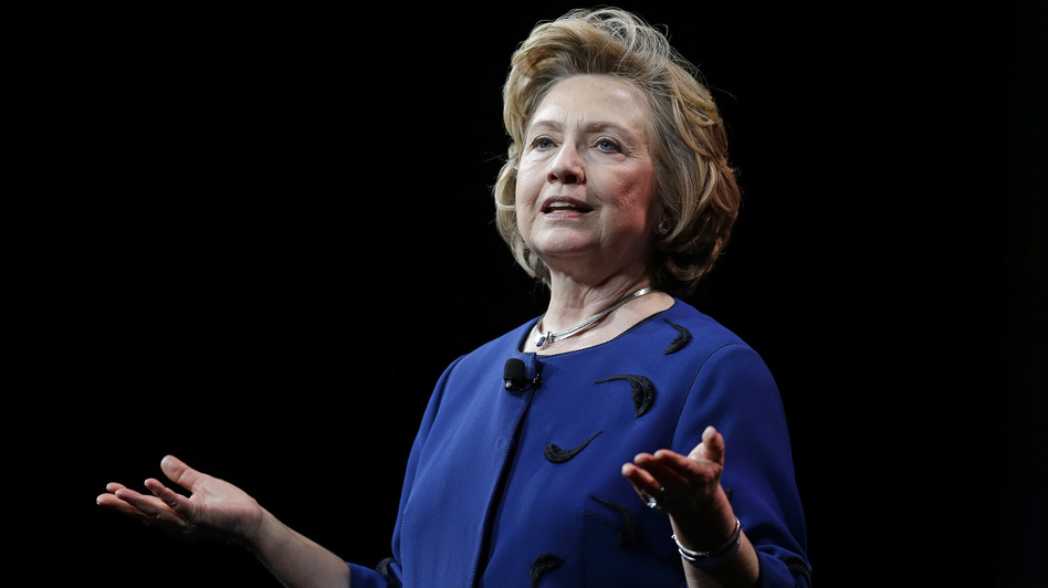 Former Secretary of State Hillary Clinton delivers a keynote address in San Francisco. (Ben Margot/AP)