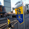Boylston Street's 26-mile marker will be a welcome sight to the thousands of runners who are in today's Boston Marathon. Today marks the 118th running of the race.