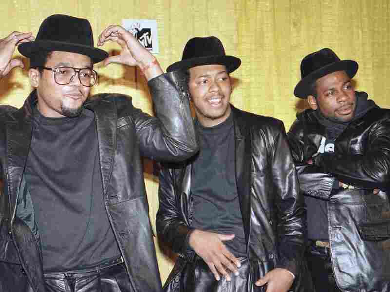 Rap group Run-DMC at the second annual MTV Video Music Awards. Does the group belong in the Library of Congress?